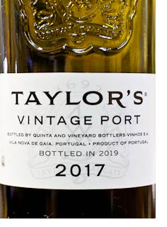 2017 Taylor's Vintage Port