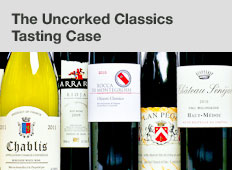 The Uncorked Classics tasting case