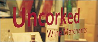 Uncorked Shop Window