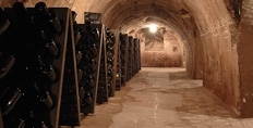 Pupitres in the cellars of Pol Roger