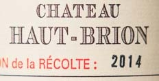 2014 Haut-Brion sample label