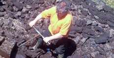 Dougie, a Laphroaig peat cutter