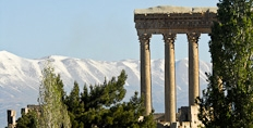 The temple of Jupiter in Baalbek, Bekaa Valley, Lebannon