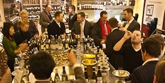 A typically jolly tasting at Uncorked's Bishopsgate shop.