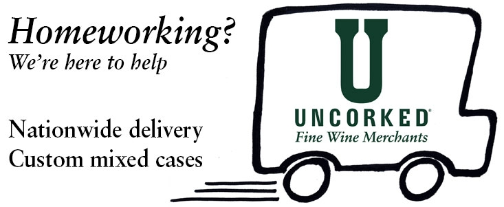 Uncorked home delivery cartoon van