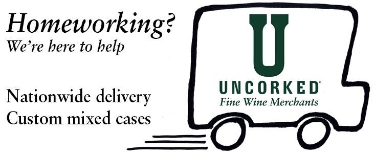 Uncorked delivery service and cartoon van